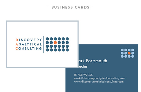Krishna Solanki Designs - Discovery Analytical Consulting Ltd - Business cards