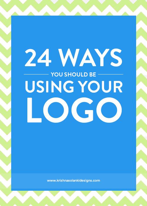 Krishna Solanki Designs - 24 Ways You Should Be Using Your Logo