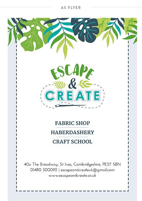 Krishna Solanki Designs - Escape and Create - A5 Flyer.jpg