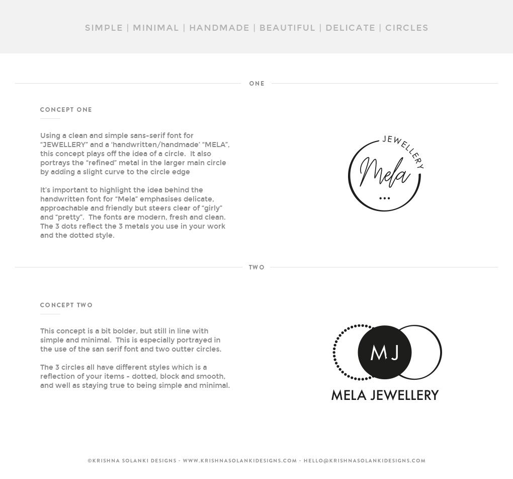 Mela Jewellery - Logo concepts (x2)