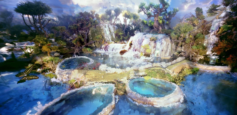 Huanglong waterfalls
