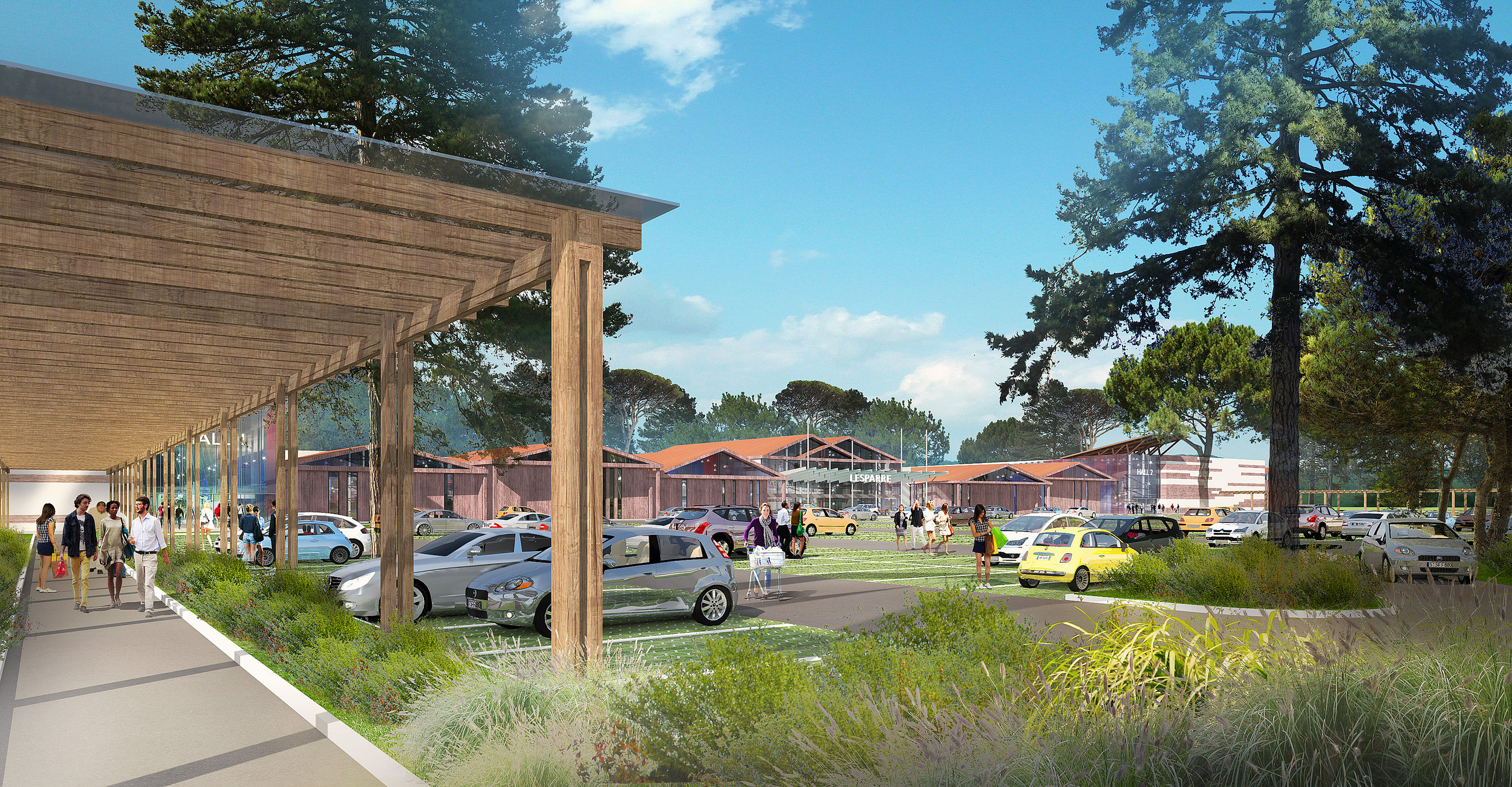 Retail park de 11 800 m² GLA avec parking paysagé de 800 places