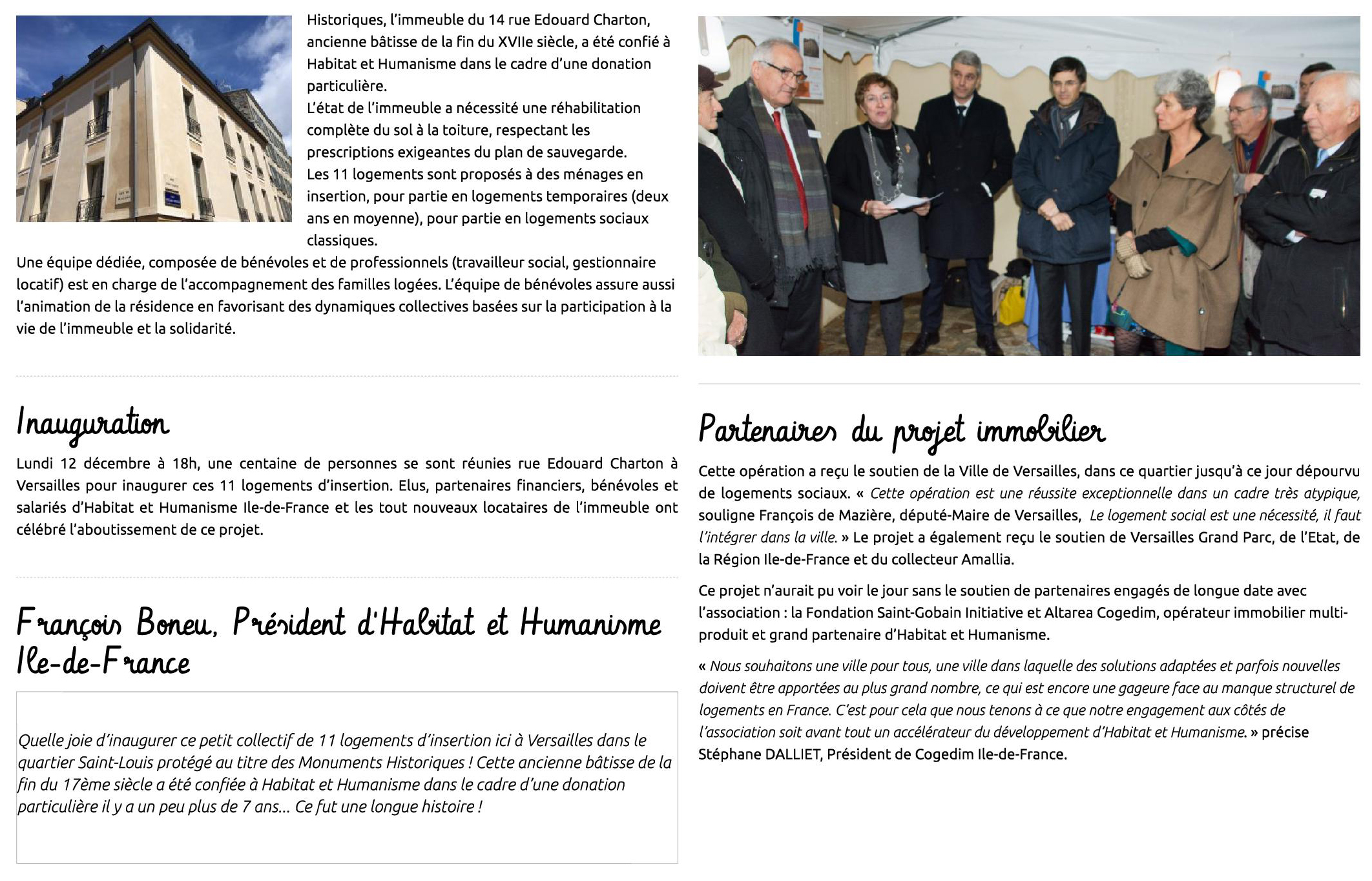 Article de Habitat et Humanisme