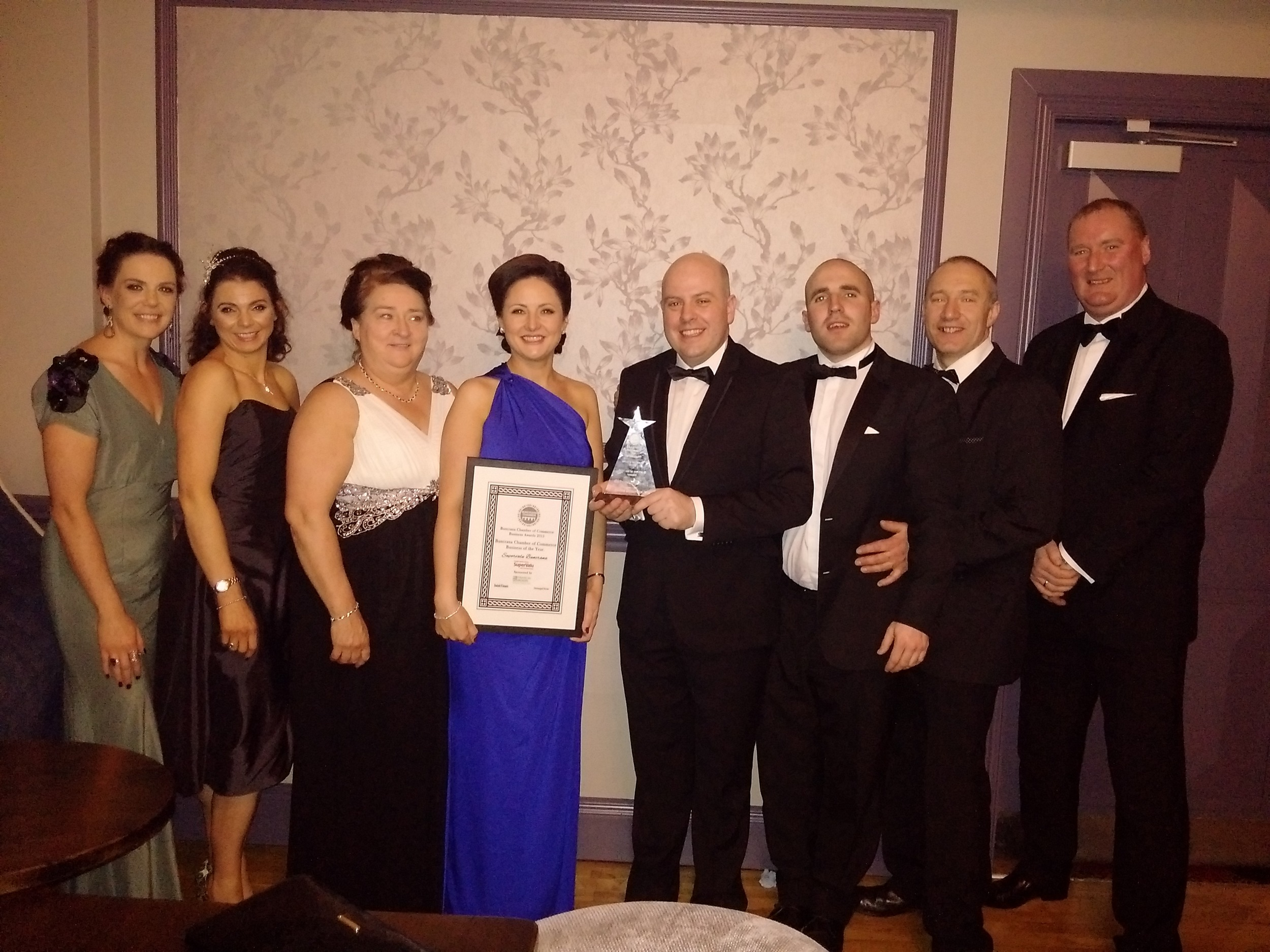 Manager at Kavanagh's SuperValu, Buncrana accepted the award on behalf of his team