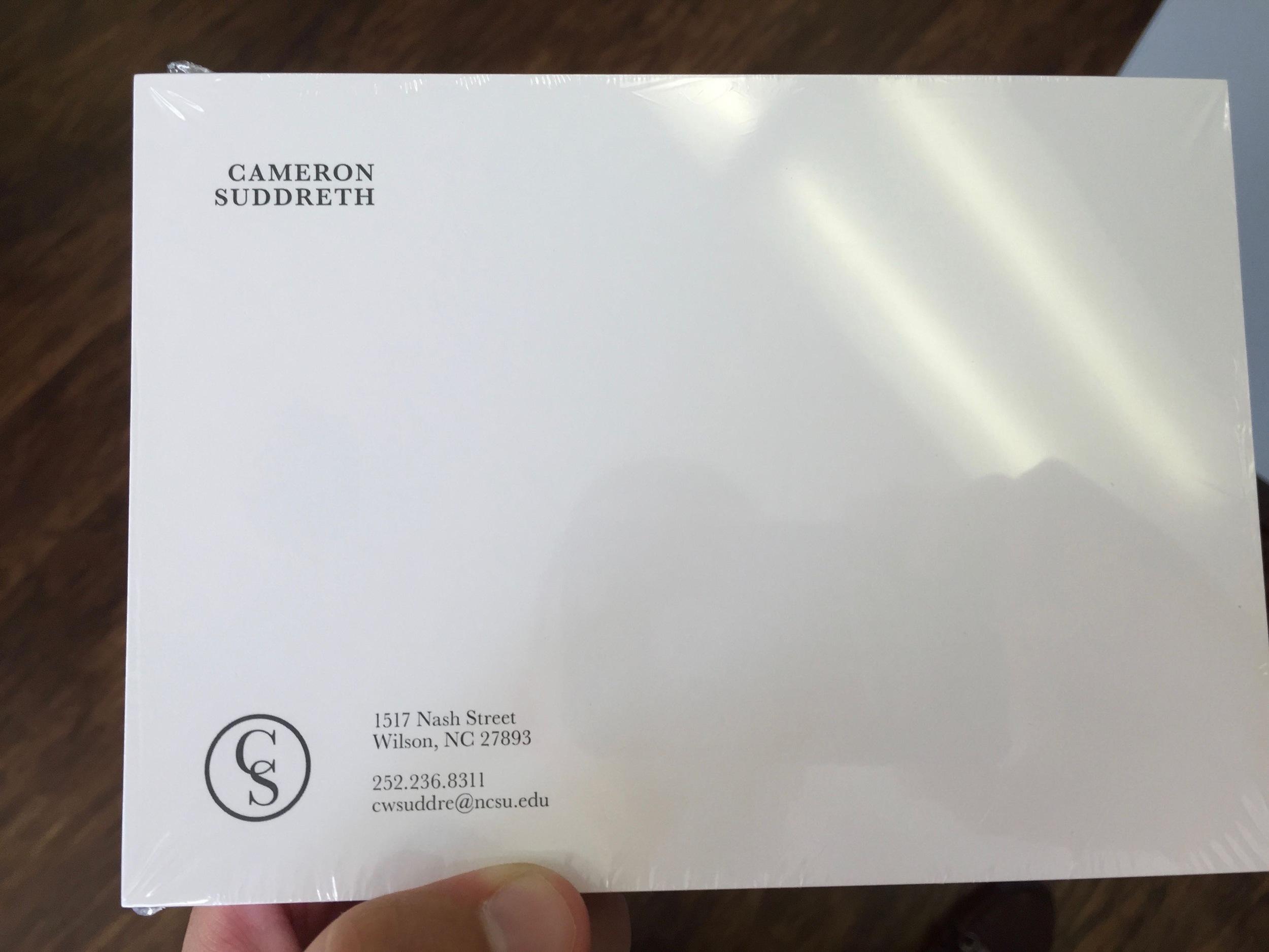 Note card - Printed