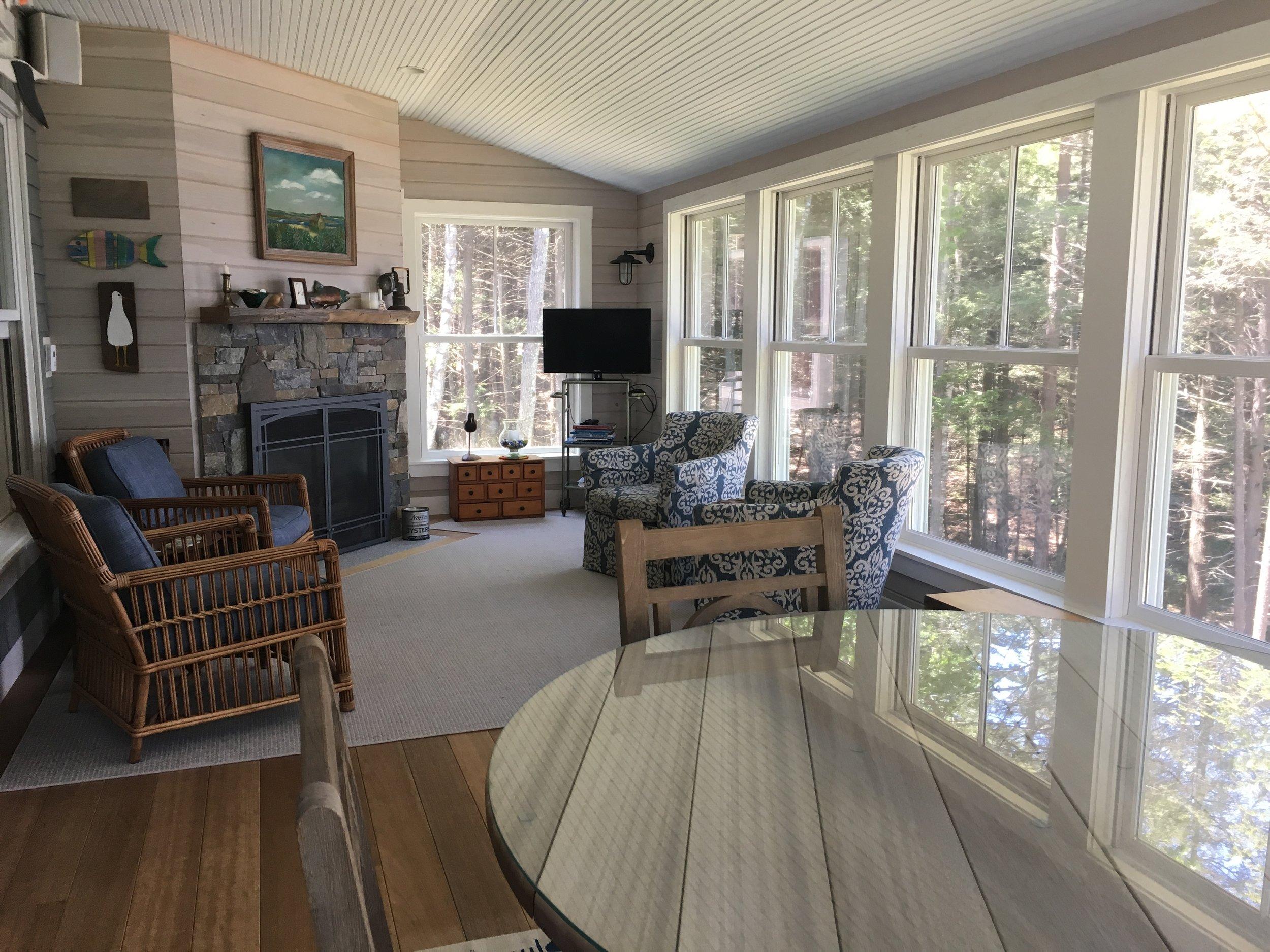Mid-Coast Maine Home - Sunroom