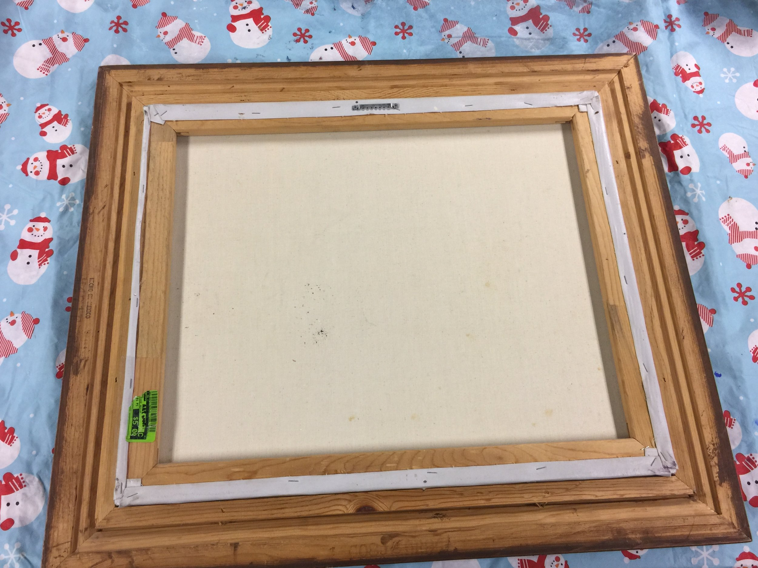 Remove Nails or Staples on Canvas
