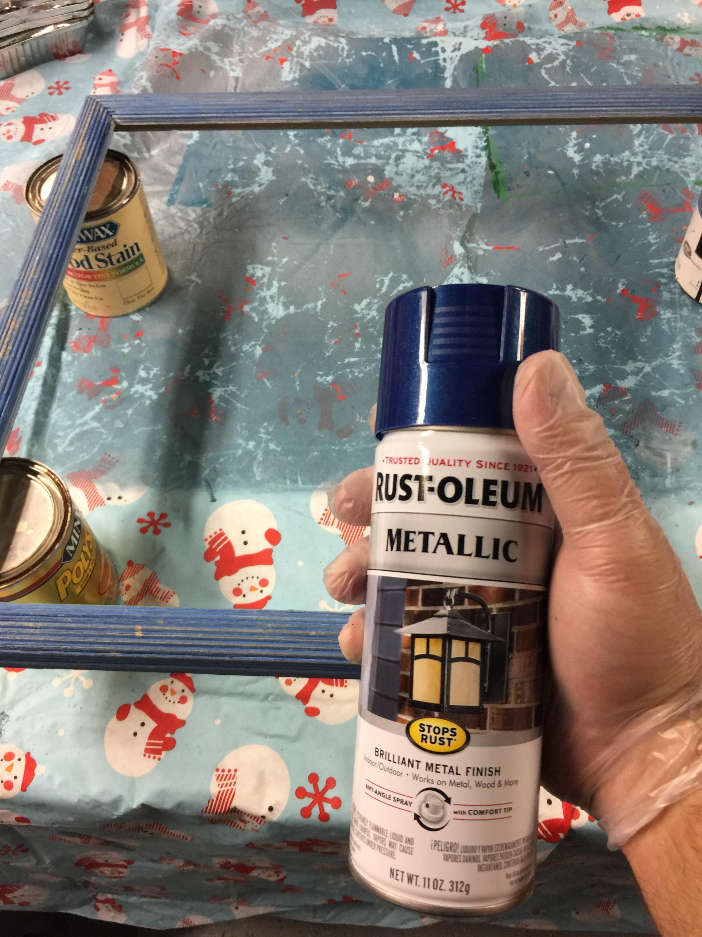 Metallic Blue Spray Paint