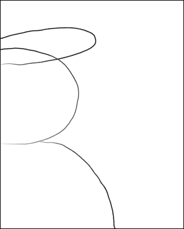 "Step 3: Draw a long/skinny ""U"""