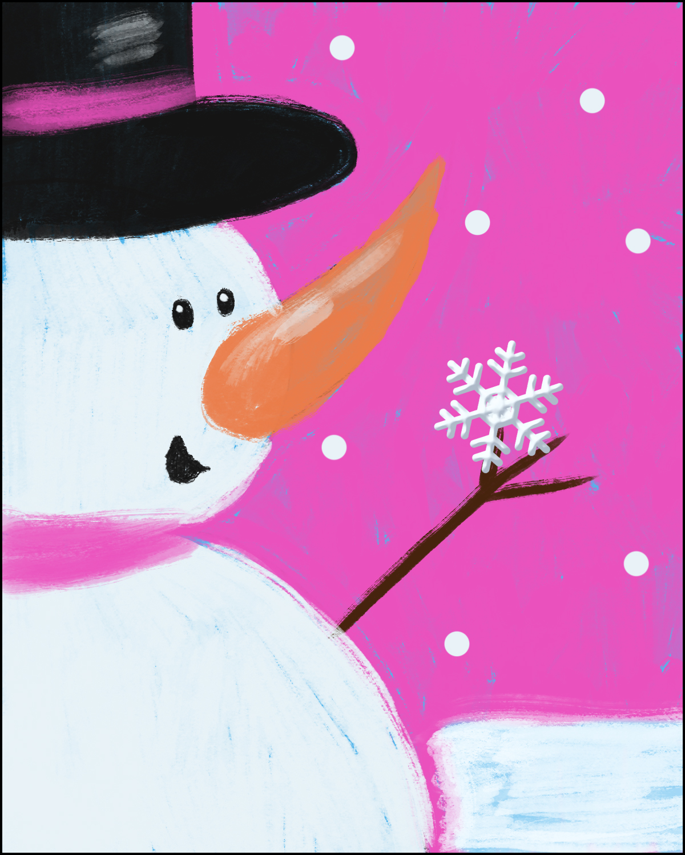 Step 15: Glue Snowflake Accessory onto Snowman's Hand