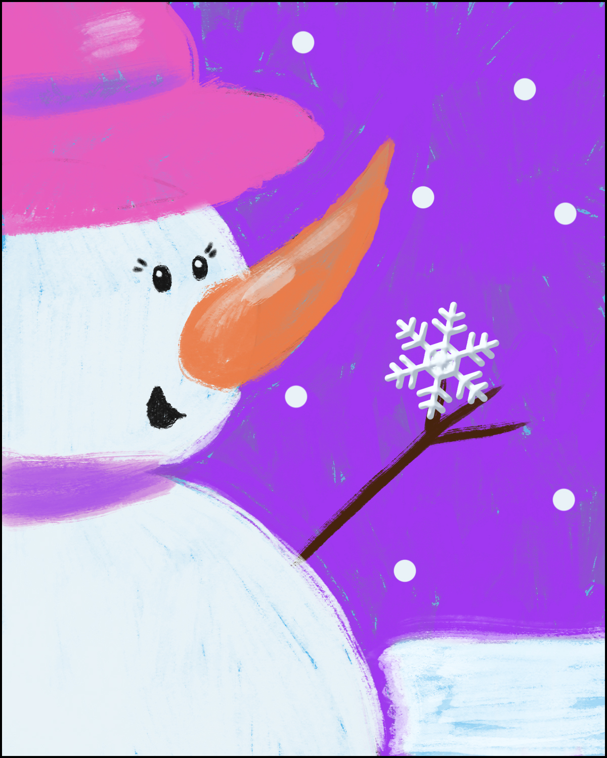 Snowgirl - Change Hat Color and add Eyelashes