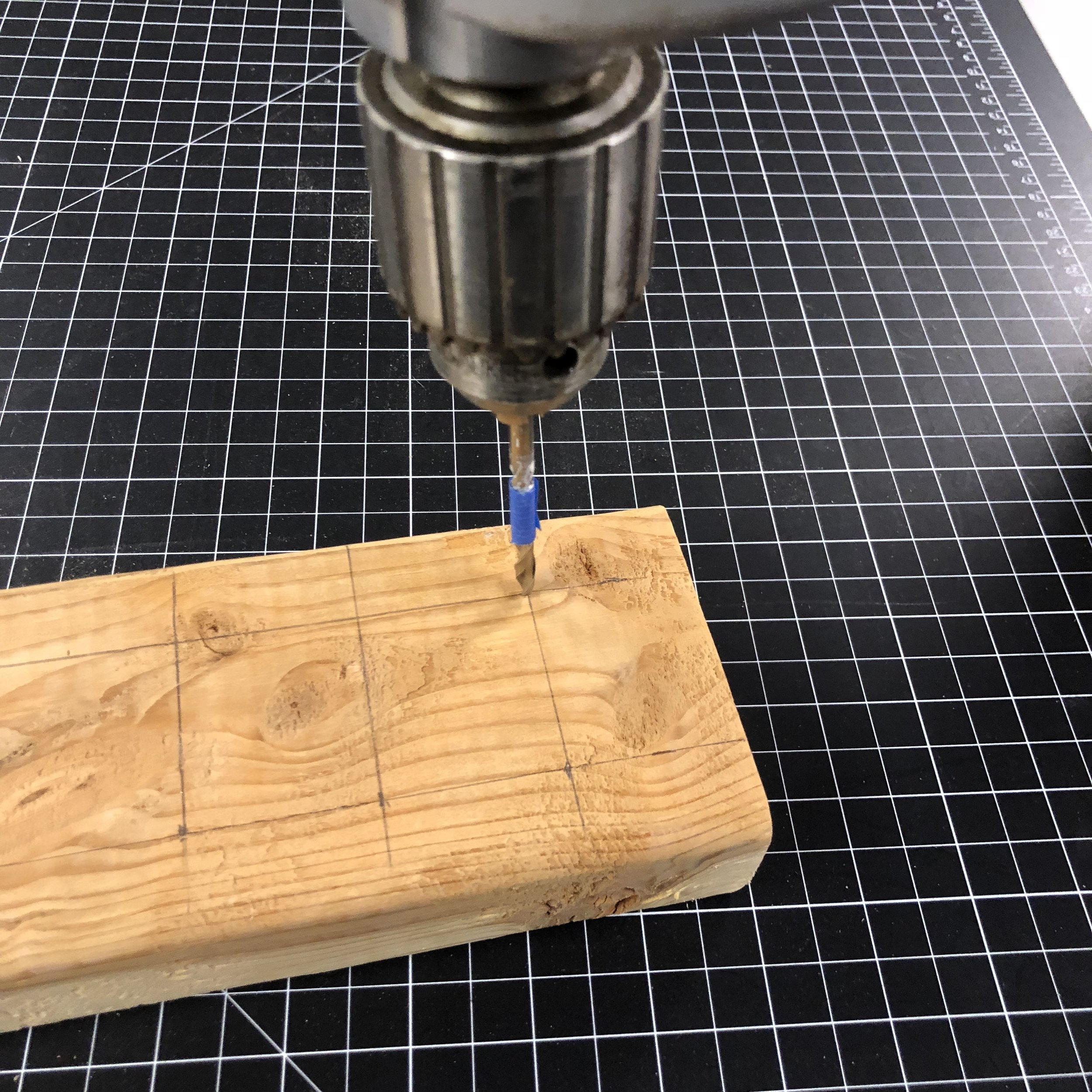 Tape on bit to drill the same depth