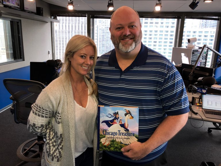 Rich Green Co-Author & Illustrator of Chicago Treasure with Mary Boyle of the Steve Cochran Show.