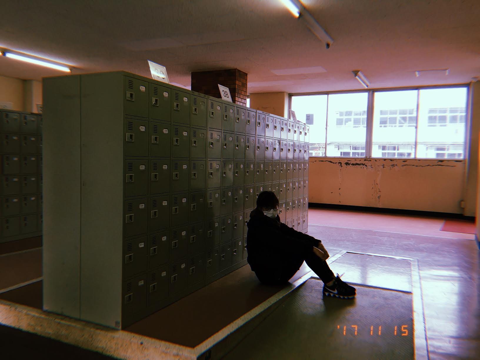 Shoe lockers for the 3rd year students.