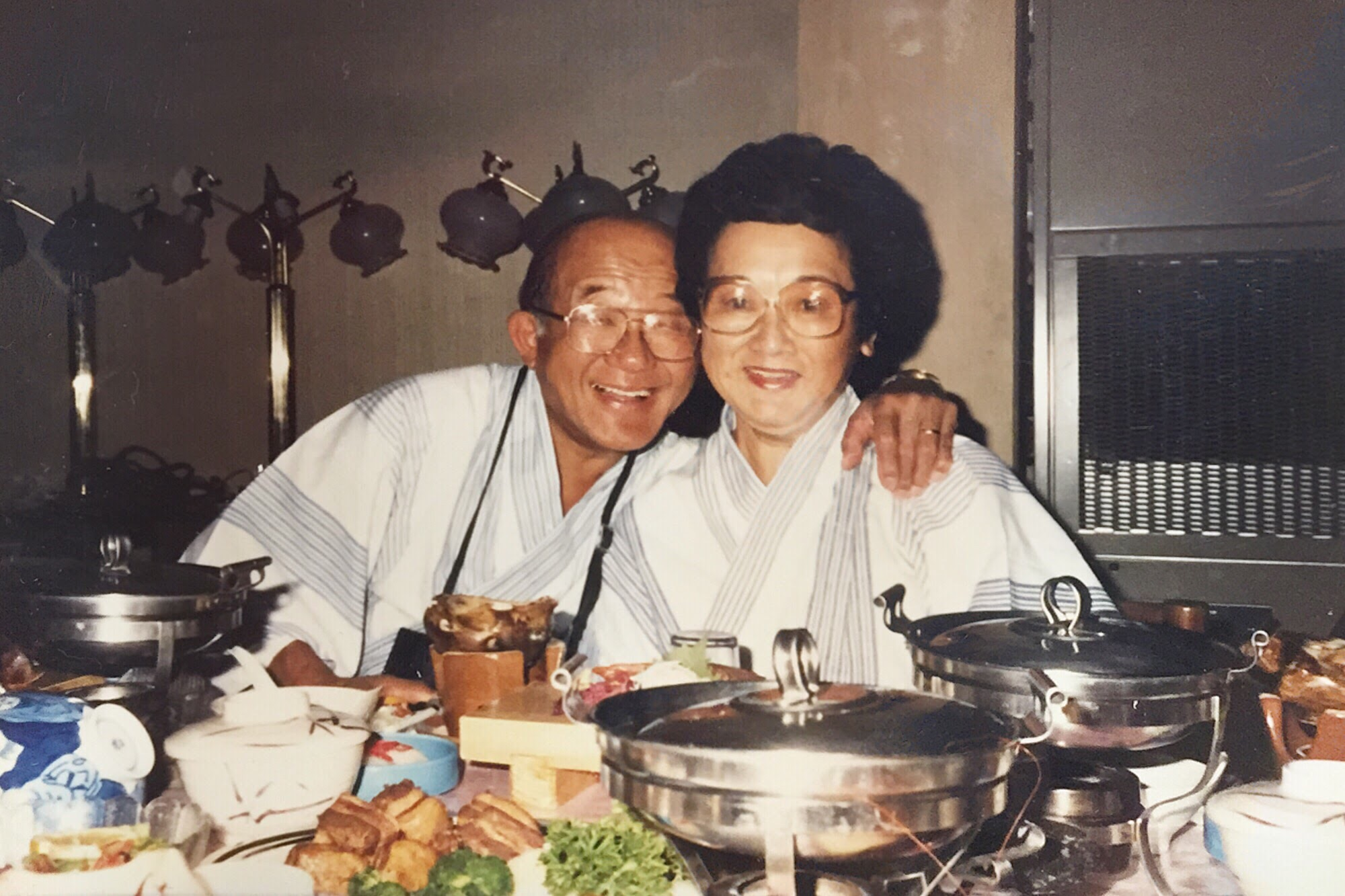 I love this photo of my grandparents. I found it last year when I was digging through old photos. I had never seen it before. It stuck out to me for two reasons : 1. They're in Japan. I never knew much about their travels here...but when I see photos like this now, I instantly connect with them. I can feel the Japanese culture and I feel this deep deep bond to them...to our heritage...to our story. 2. That look of pure joy on their faces. It's so genuine. And was exactly how I always knew these two. Full of love. Full of love. The greatest couple I ever knew.