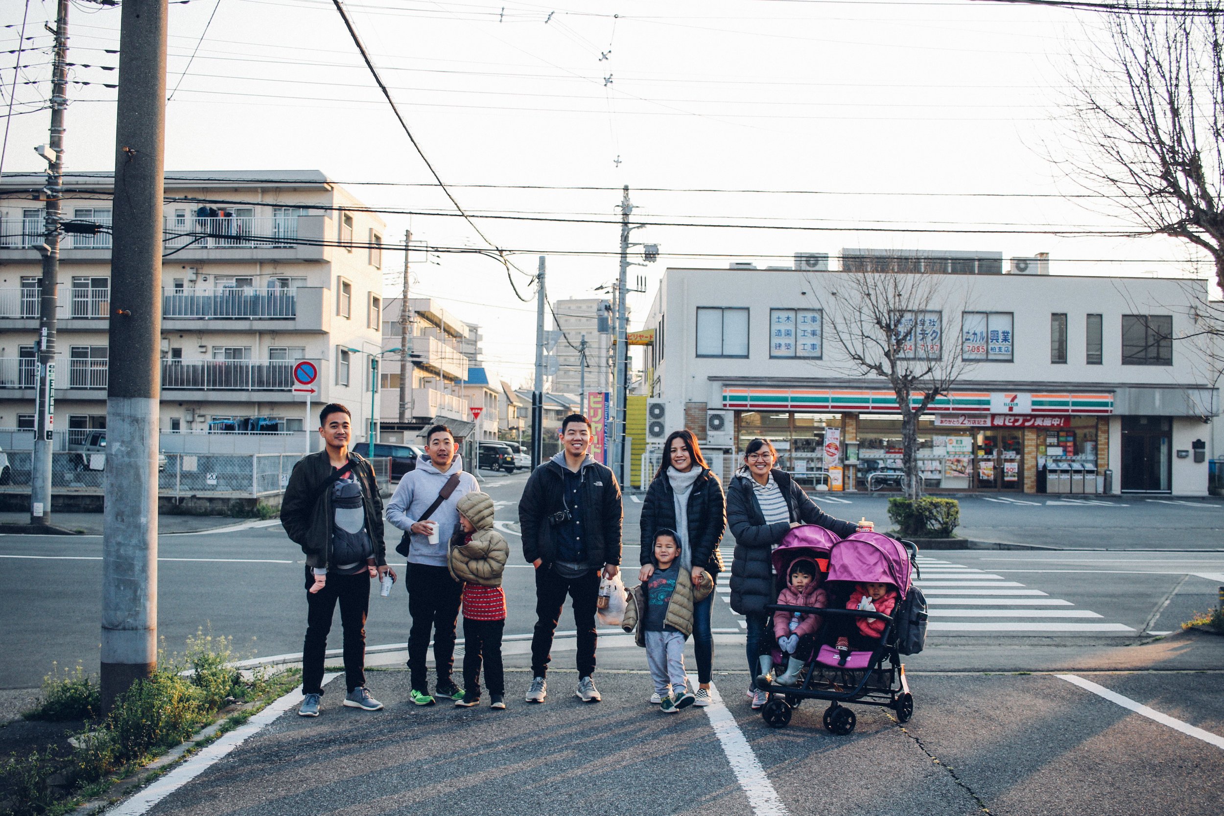 2. FAM IN JAPAN The biggest highlight of 2018 was having my family in Japan. This shot is particularly important since it was taken right in my neighborhood, across the street from the 7-11 I went to every day. I had lived in this area for two years before my family got to come see it with their own eyes. Having them in my hometown in Japan meant the world to me. This morning in particular, is a moment I will never forget.