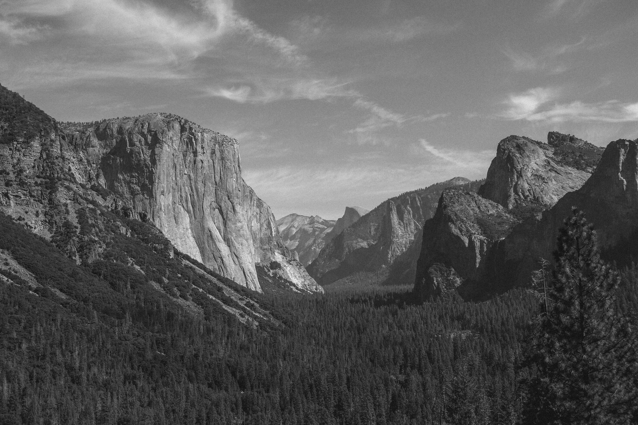 Tunnel View -  this is quite possibly the most iconic view of Yosemite Valley. El Capitan on the left…Half Dome tucked far back on the right hand side…and the valley displayed beautifully below. We were lucky to catch this view on the way out and it took my breath away.   Yosemite far exceeded my expectations and I am already dreaming of my next trip back!