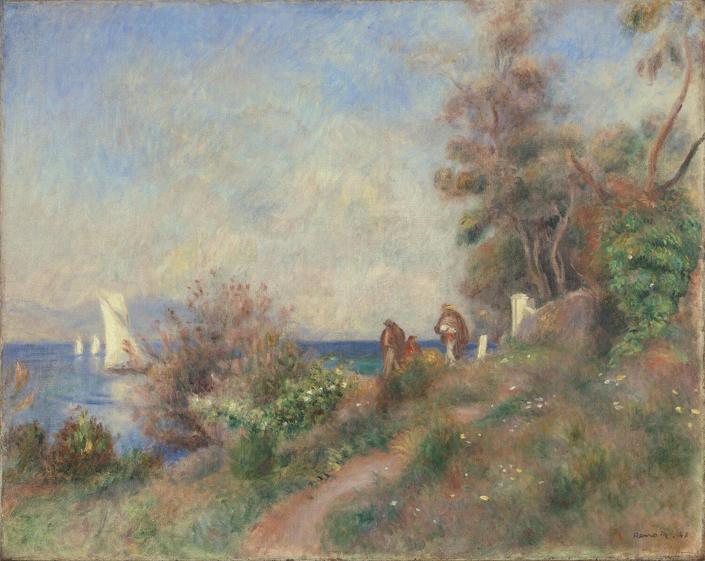 Pierre-Auguste Renoir   Coastline at Antibes , 1888