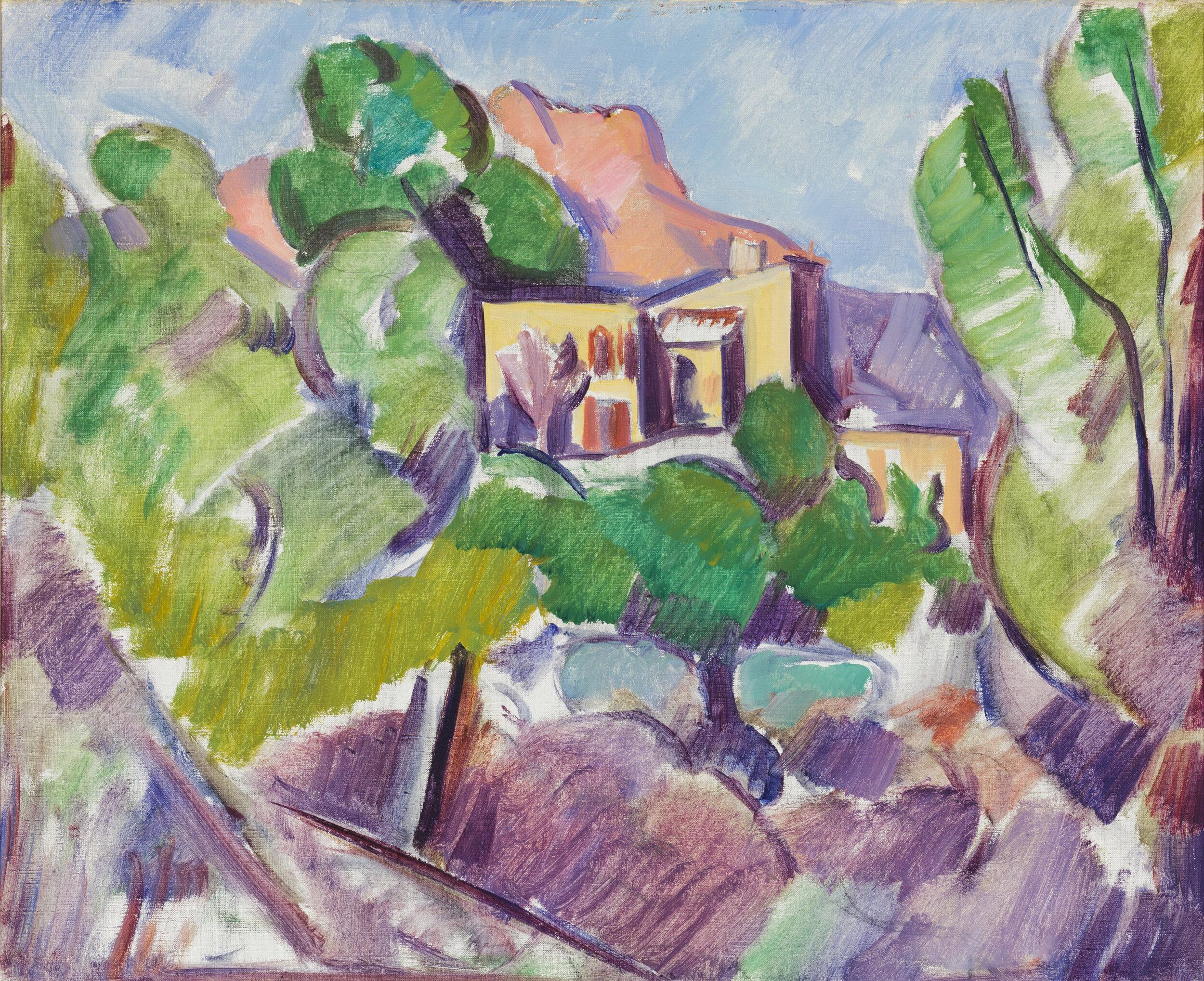 Marsden Hartley  (1877-1943)   Landscape #29, Venice , c. 1926-1927  Oil on canvas, 20 x 24 inches