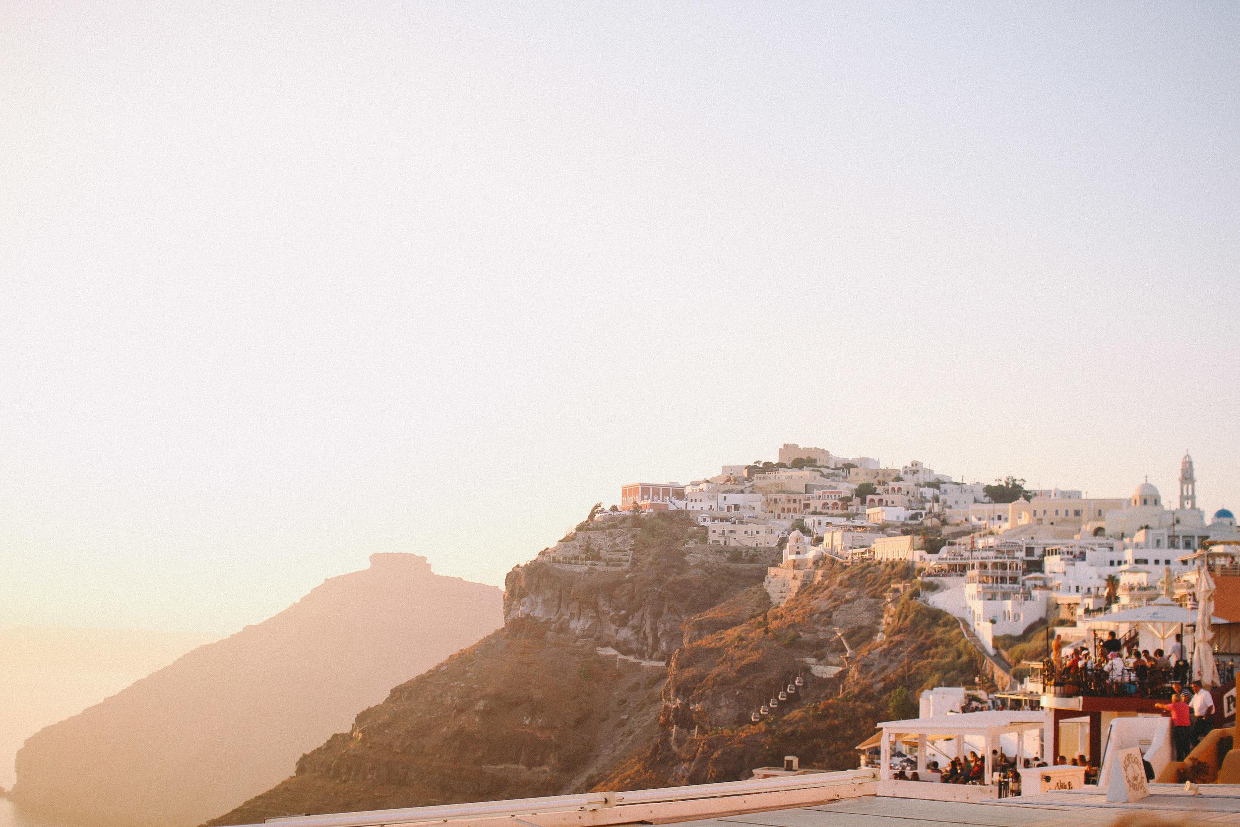 Sunset in Oia, Santorini