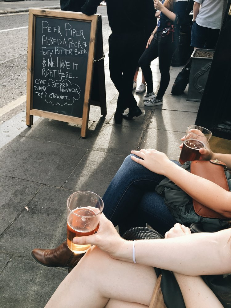 AND BECAUSE WE ALL LOVE A GOOD DRINK - Londoners love their Pubs... and Gin... and, well, alcohol.Enjoy a cheeky half here:- The Builder's arms- Porterhouse- 214 Bermondsey- Pergola on the Roof (May-October)- Cahoots!- Founder's Arms-