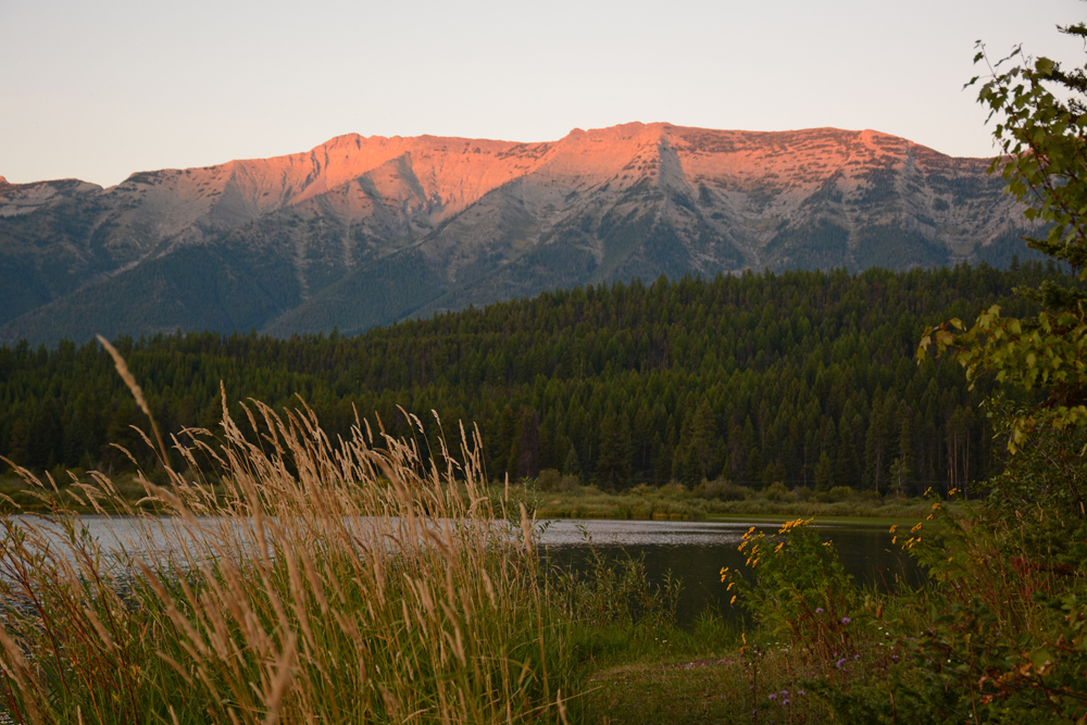 The sun sets on the Grizzly Basin area of the Swan Range that is proposed for wilderness as part of the Blackfoot Clearwater Stewardship Project.             Photo by Laura Lundquist