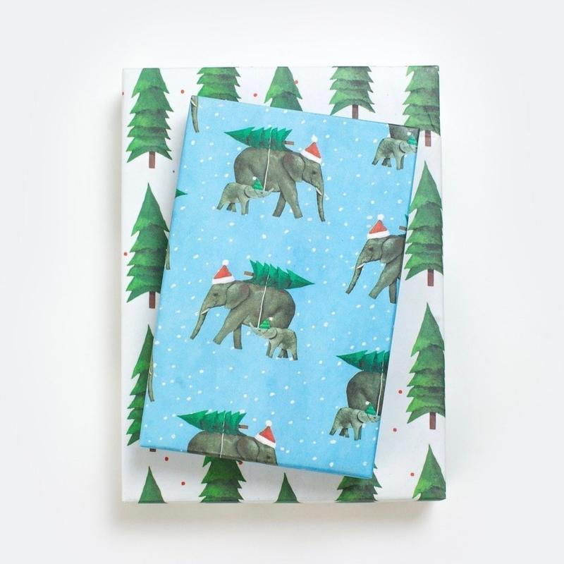 Wrappily Elephants By Allport Editions Wrapping Paper
