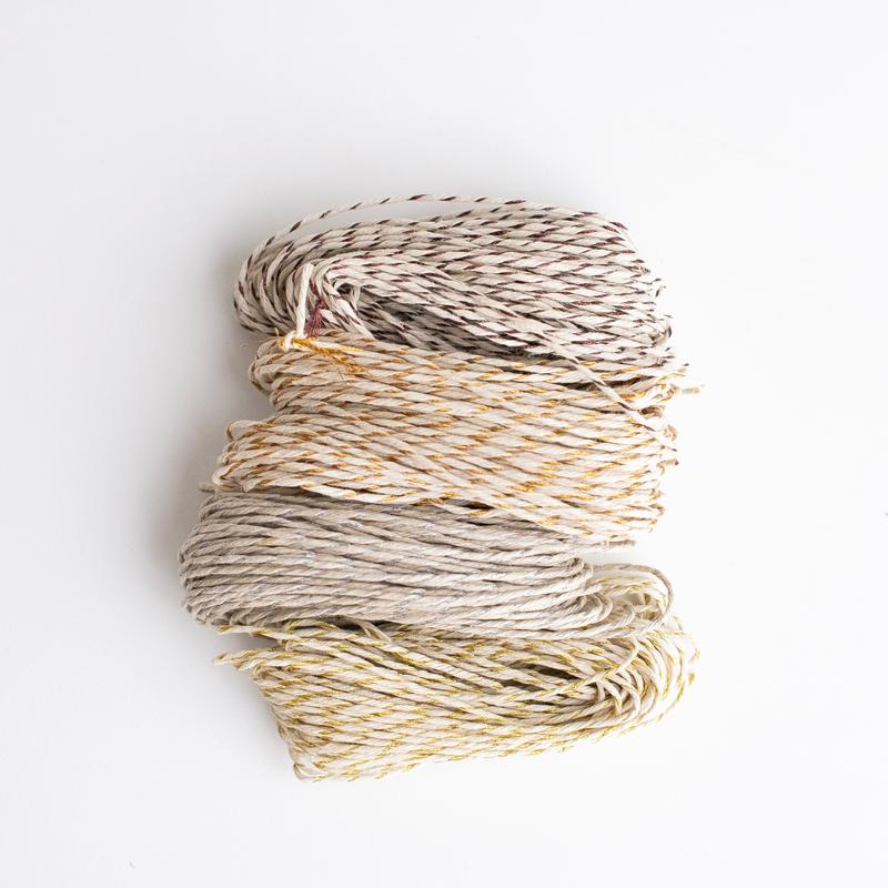 Wrappily Vintage Sparkle Hemp Twine Quad