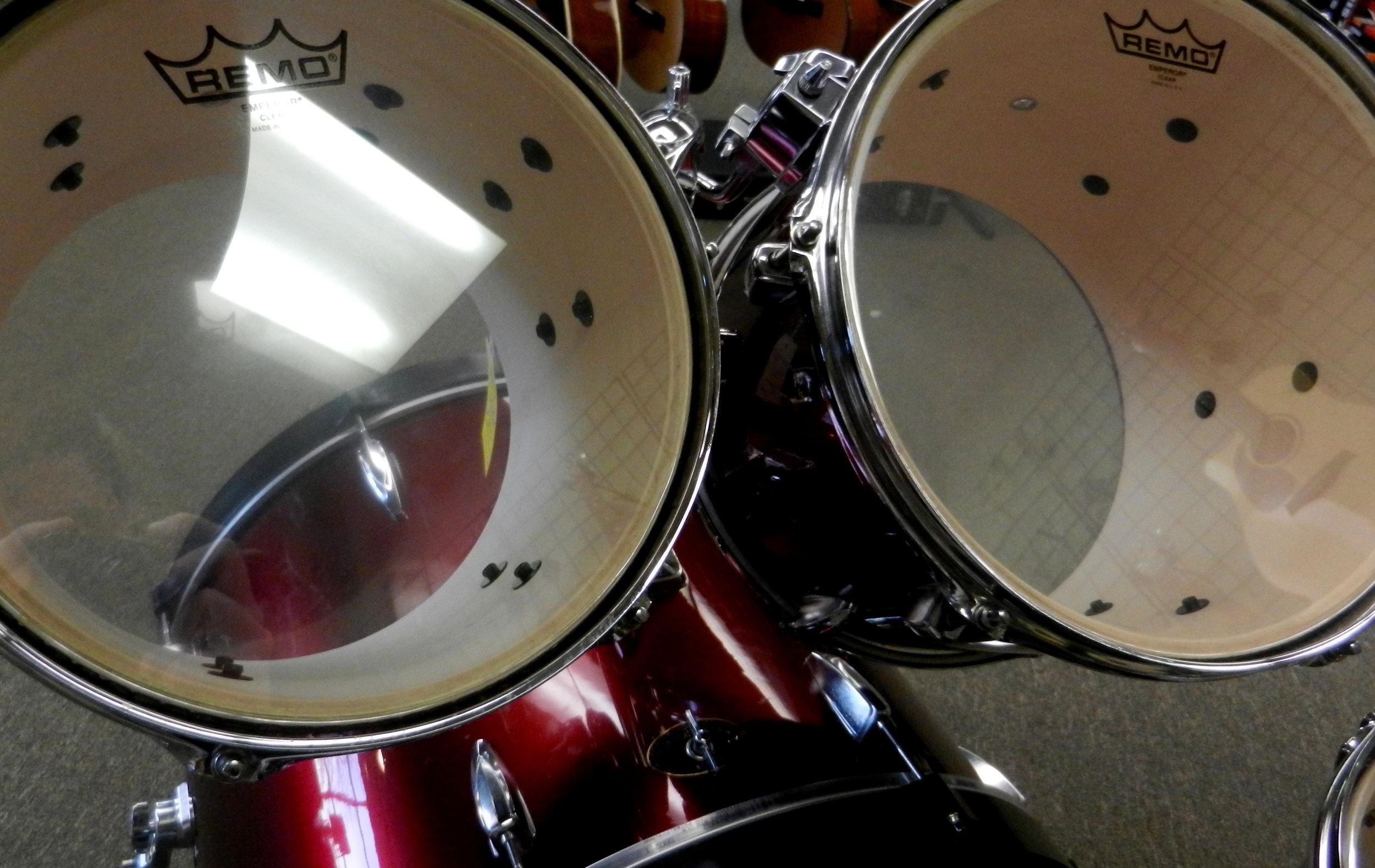 Used Tama Imperialstar Drum Set Heads.JPG