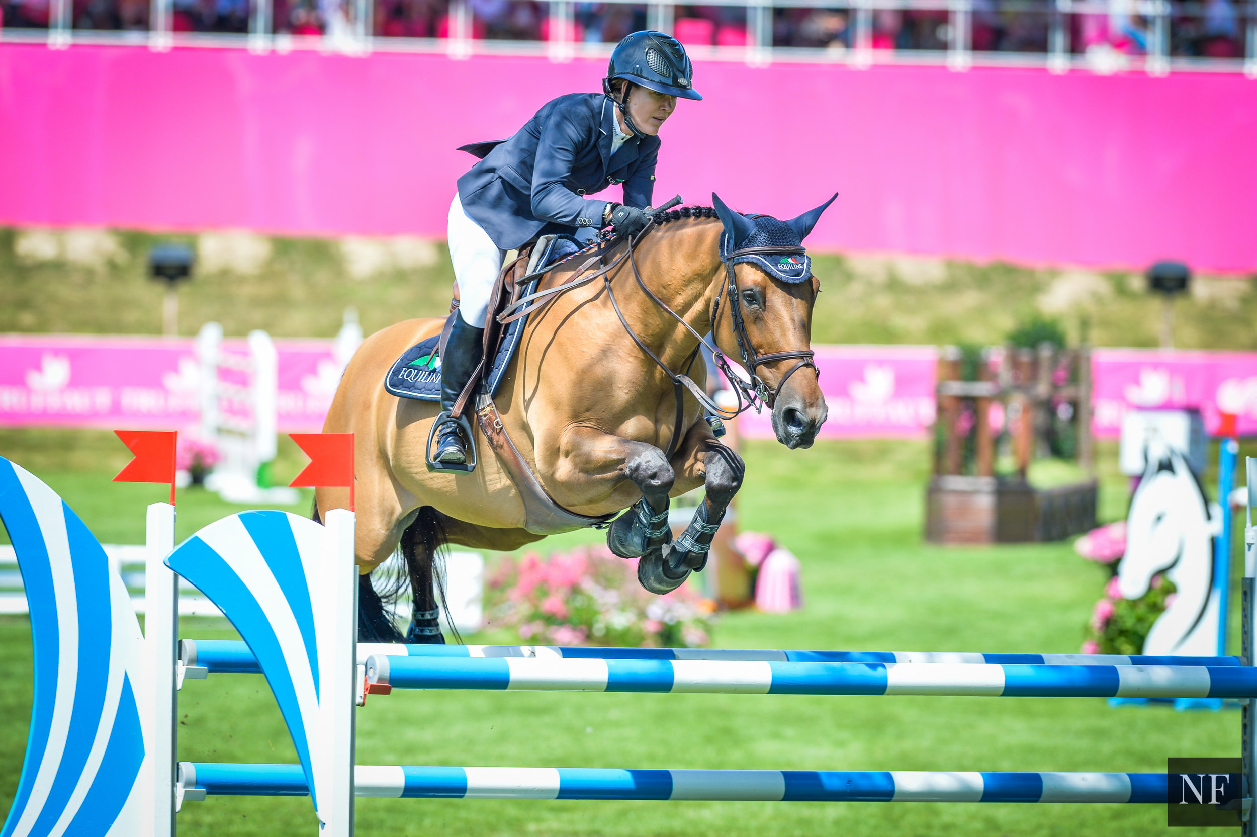 Lauren and Waterford compete at The Winter Equestrian Festival, Wellington, Florida, April 2017