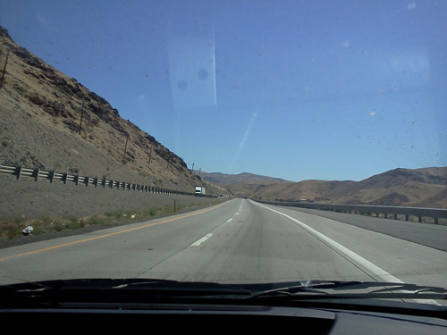 Open road on the way to Burning Man 2011