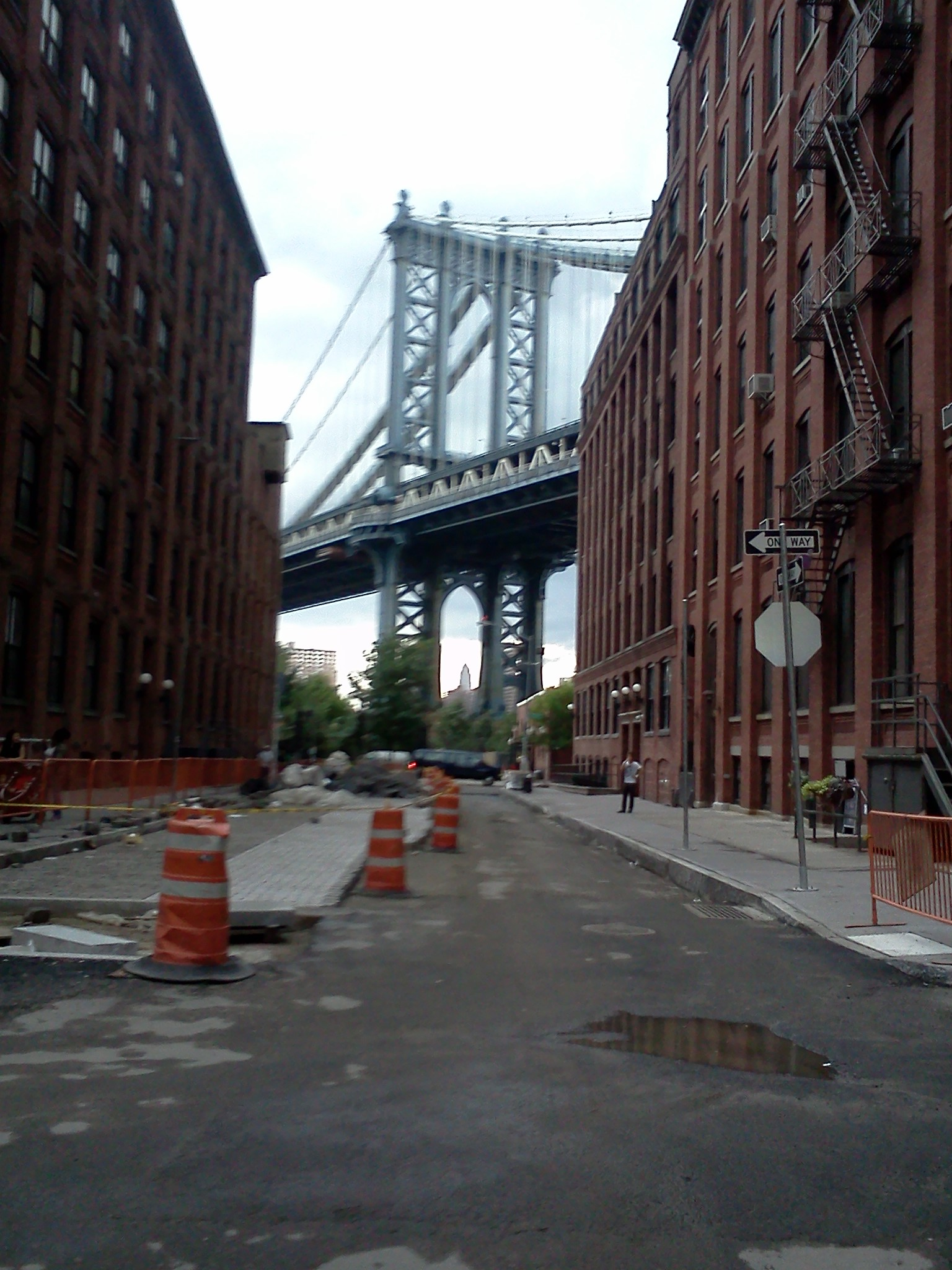 Manhattan Bridge from Brooklyn, August 2011