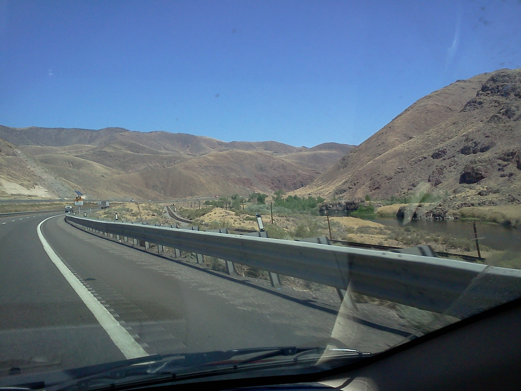 On the road to Burning Man, August 2011