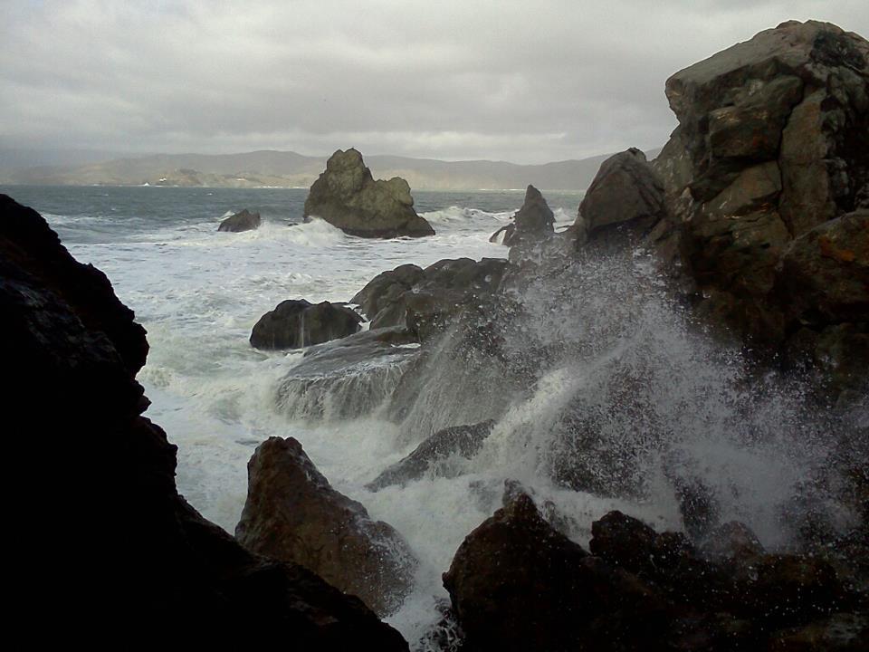 The ocean next to Sutro Baths, SF