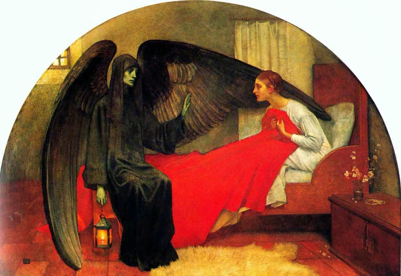 La jeune fille et la mort, 1900Marianne Stokes