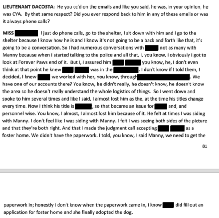 Furtado confirmed there was never any paperwork on this dog until April 28th which means from April 4th -April 28th they had no legal paperwork on Jackie.