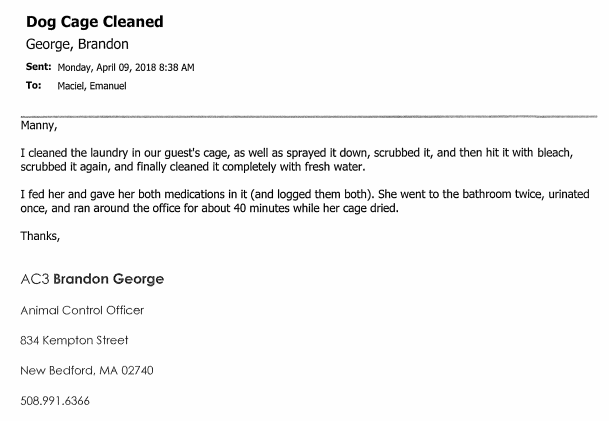 "Thanks to a FOIA we now see ACO George referring to Jackie as their ""guest"" on April 9th. Five days after capture ."