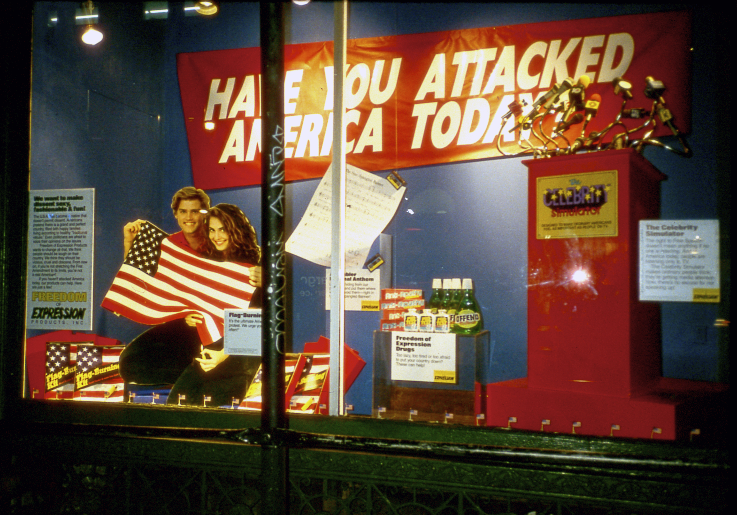 Have You Attacked America, New Museum, NY, 1989