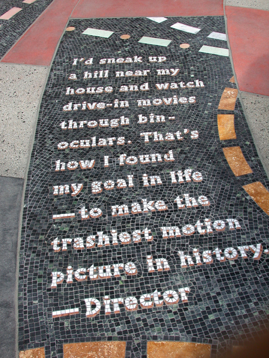 The Road To Hollywood, one of 60 mosaic panels