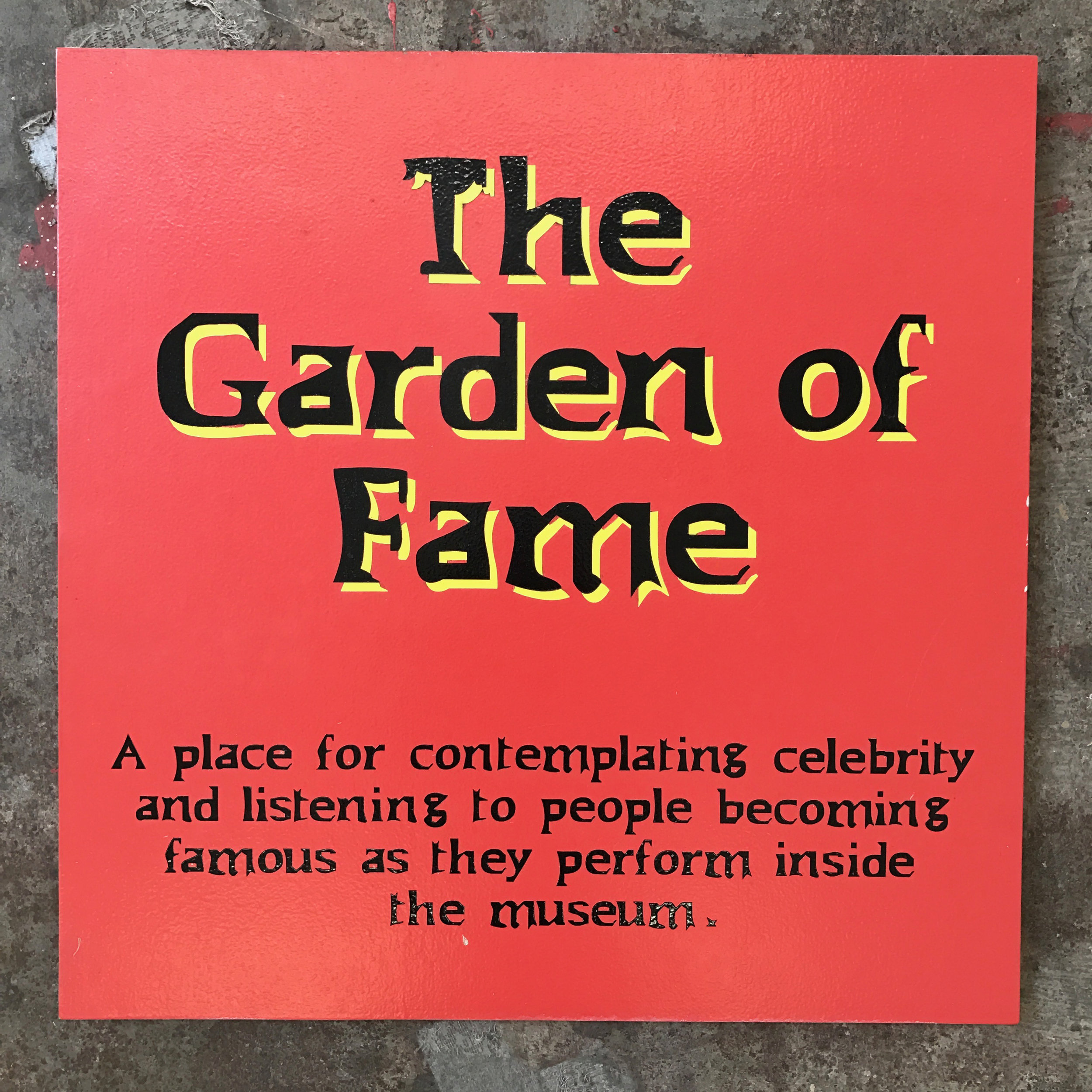 The Garden of Fame sign, LACMA 2000