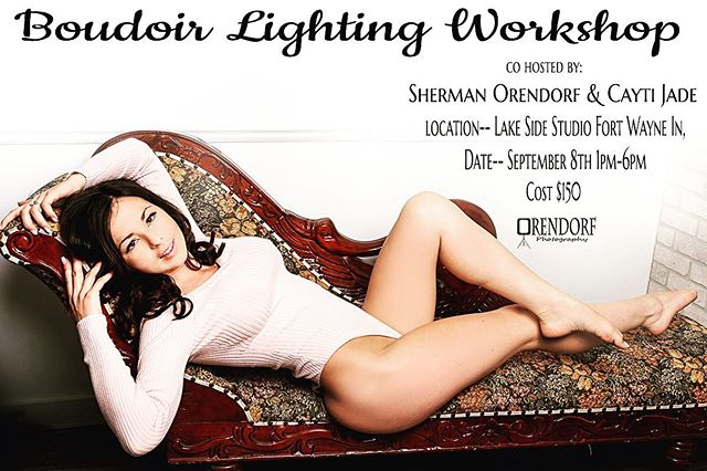 #Photographers I only have a couple people signed up for this event we need a few more to make it a fun class go check out more details on the website using the link in my bio . . #boudoir #boudoirlighting #alienbee #nikon #legs #booty