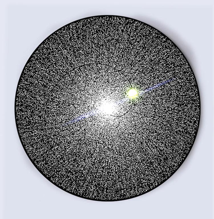 Cosmic Burnout , 2019. Algorithmic Model. Digital Print On Canvas