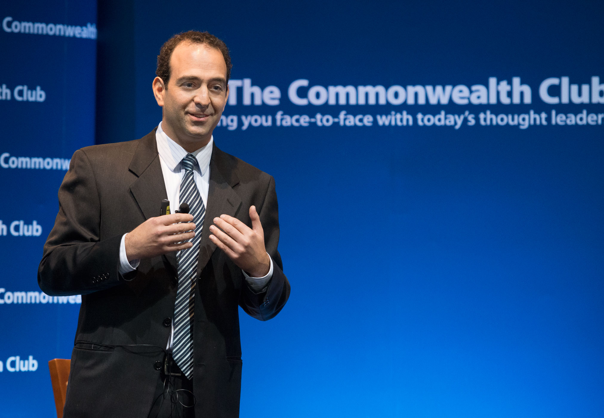 Leor speaking about his research to the Commonwealth Club, the nation's oldest and largest public affairs forum.