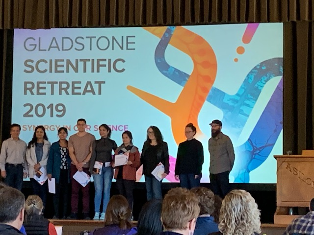 Congratulations to Sonali for winning the Best Poster Award at the Gladstone Retreat.