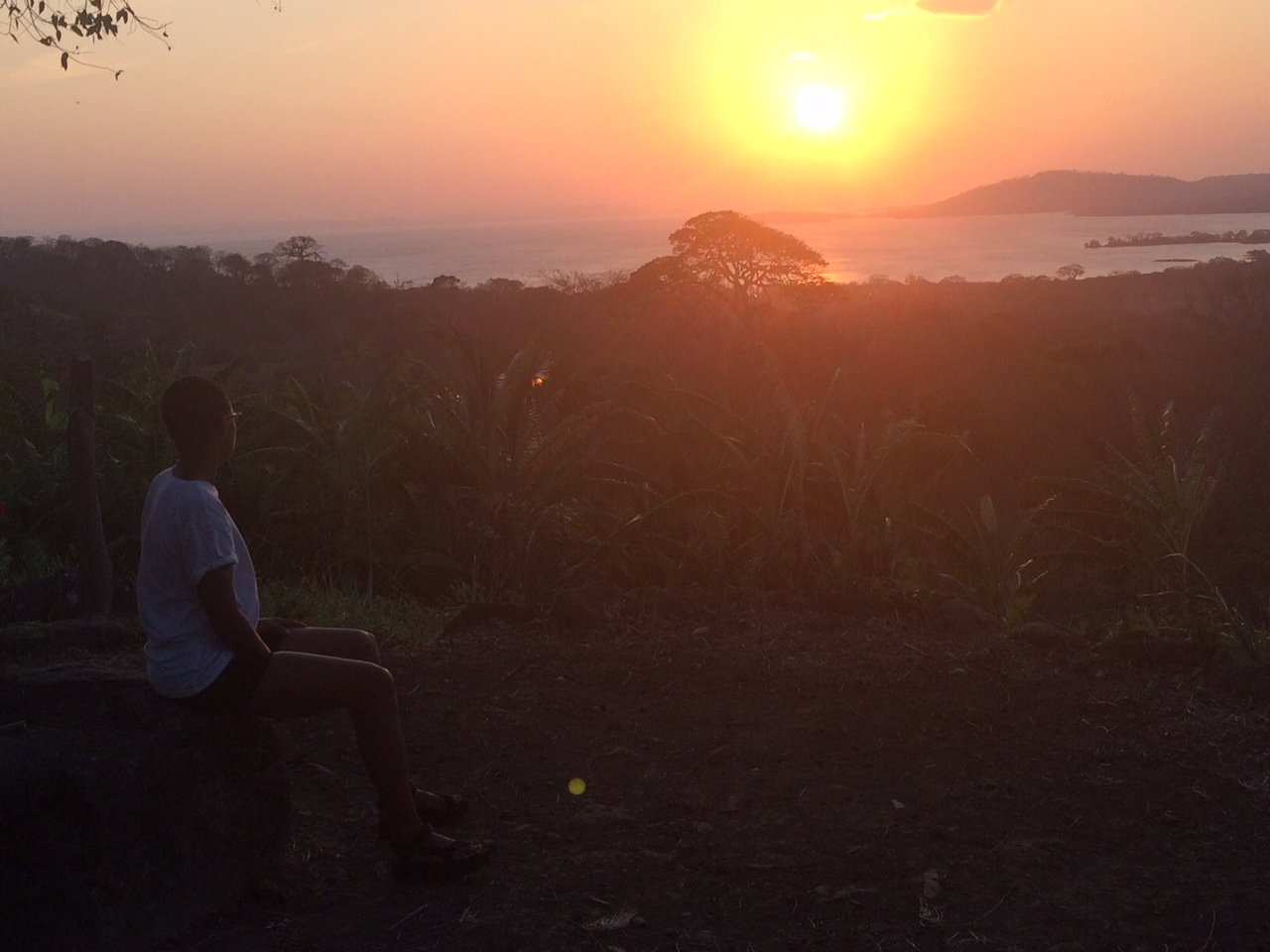 Breathtaking sunsets next to the Volcano