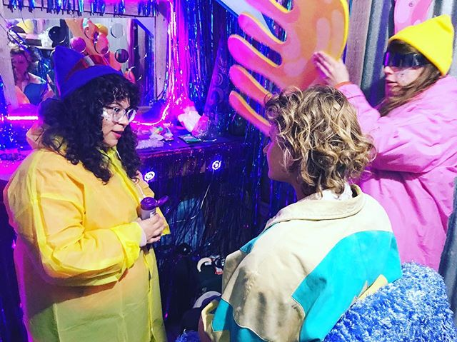 OUR PROFESSIONAL STYLISTS DENTAGLED SOME EARS AND DID SOME BEDAZZLING THIS WEEKEND AT A GHOST TOWN WEDDING . . . #moonpuppies #salon #sneakyplanet #ghosttowns #bedazzle #stylist #installationart #immersiveart #interactivetheater #experientialdesign #glitterati #atxartist #detangler #thirdeyetribe #thirdeyeopen