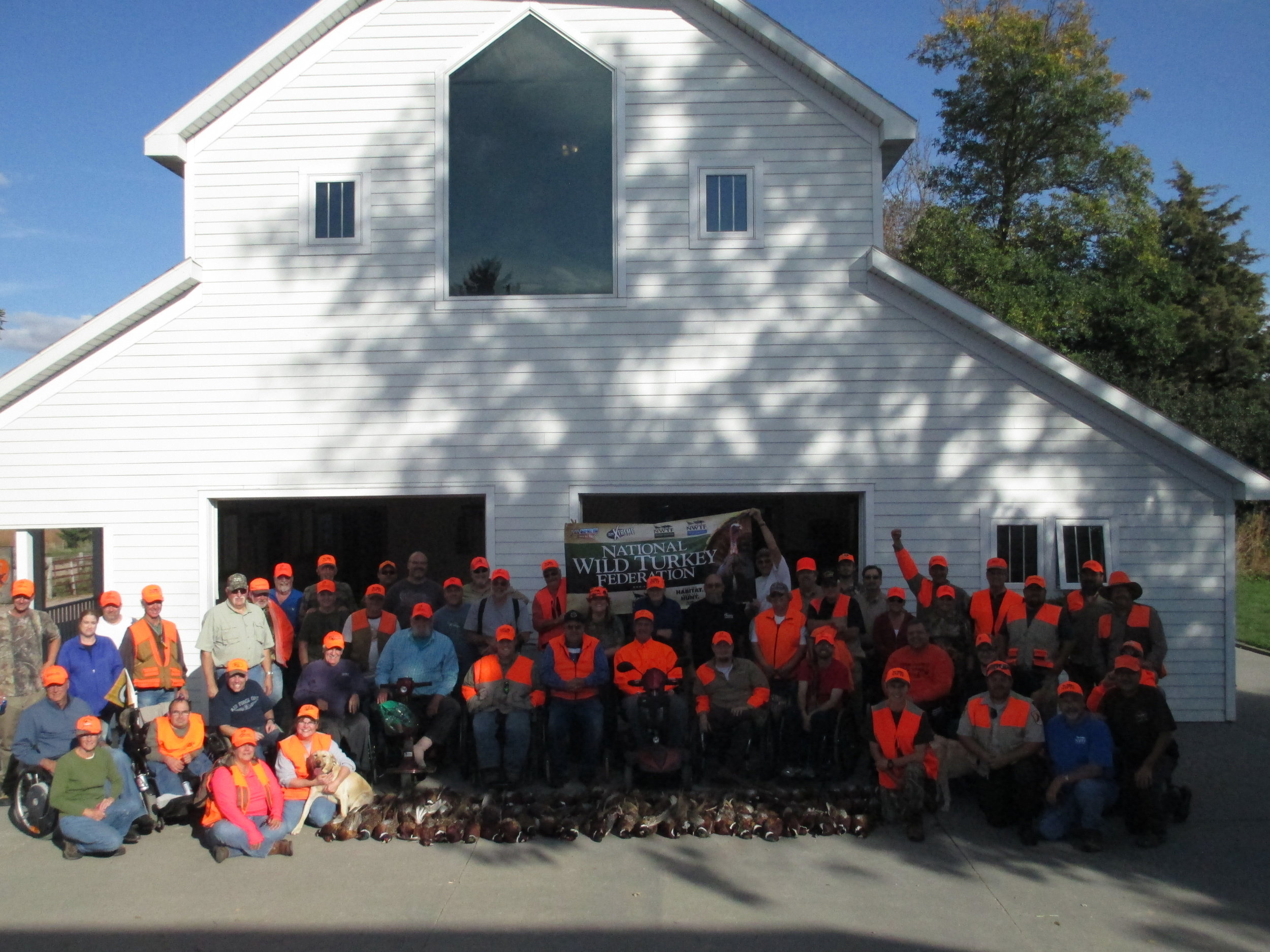 Nineteen hunters participated in the sd state chapter wheelin' sportsmen hunt, harvesting a record 92 birds. thirty-seven nwtf volunteers were on hand to assist