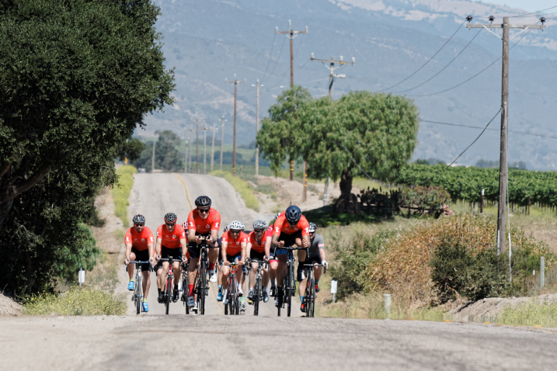 ChefsCycle riders tackle the heat + hills of Central California. || photo: Davey Wilson