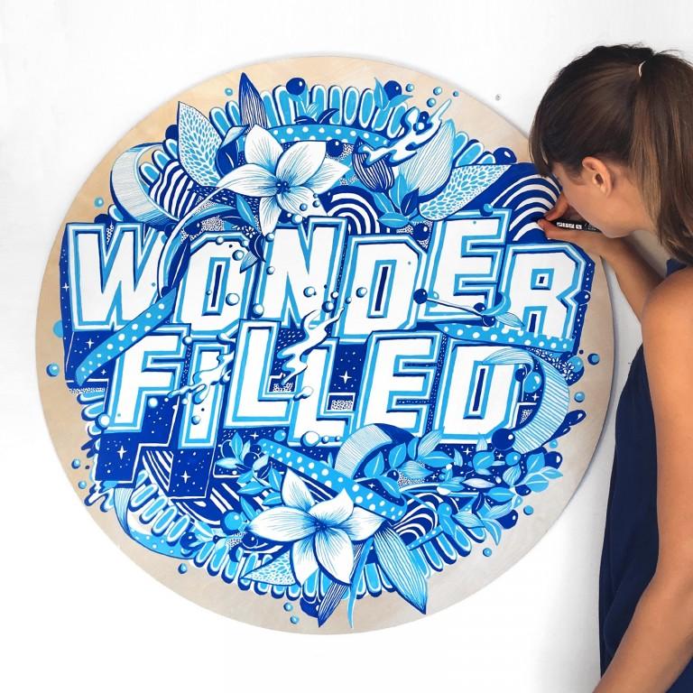 Art by Gemma O'Brien that reads Wonder Filled