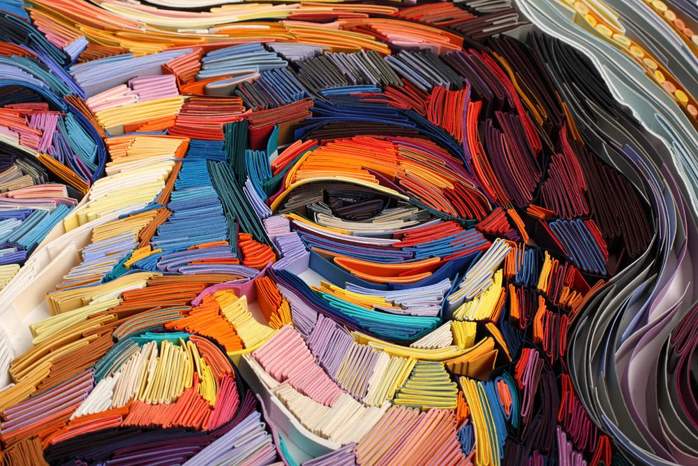 multicolored artistic rendering of eyes